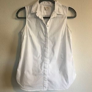 J. Crew Sleeveless Button-Down Shirt
